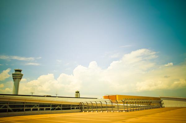 羽田空港デッキから撮影